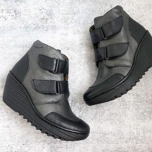 Fly London Yugo Wedge Sneaker Booties